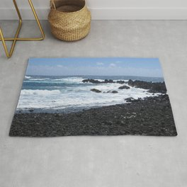 Black and Blue Earth Rug