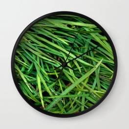 Organic Plant Blades Wall Clock