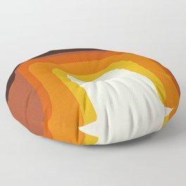 Mid-Century Modern Meets 1970's Orange Rainbow Floor Pillow