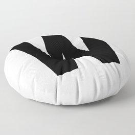 Letter W (Black & White) Floor Pillow