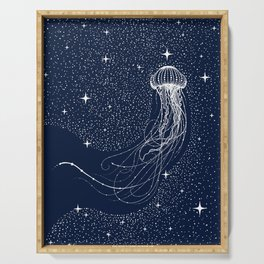 starry jellyfish Serving Tray