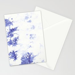 Minimalist blue watercolor Stationery Cards