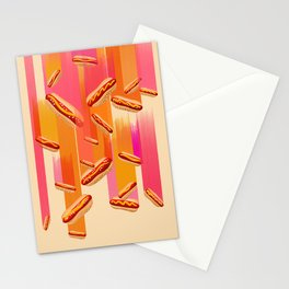 Hot Dogs, Falling from the Sky! Stationery Cards