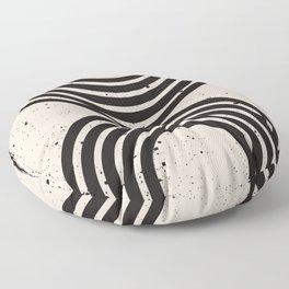 Mid Century Modern Art Print, Abstract Rainbow Arch wall art, Geometric Arch Print, black and white, Floor Pillow