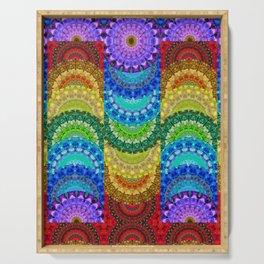 Chakra Mandala Healing Art by Sharon Cummings Serving Tray