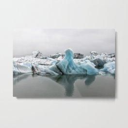 Jokulsarlon Glacier Lagoon Icebergs Metal Print