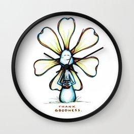 """""""Thank Goodness"""" Flowerkid Wall Clock"""