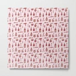 Beauty supplies pattern Metal Print