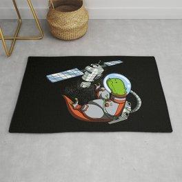 T-Rex Dinosaur Space Astronaut Rug