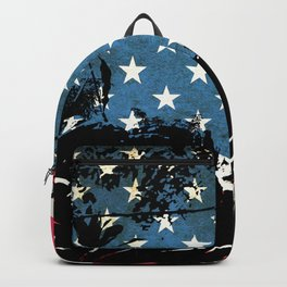 American Flag Foliage Backpack