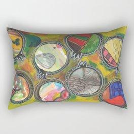 My life in mixed media pomegranates 6/7 Rectangular Pillow