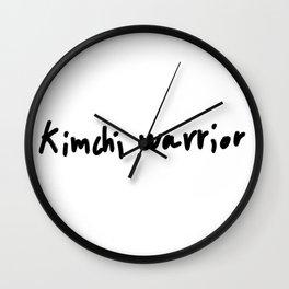 Kimchi warrior Wall Clock