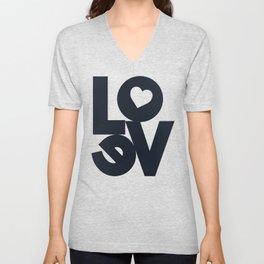 Love illustration, wall art, gift for couples, present for him, for her, Valentine's Day Unisex V-Neck