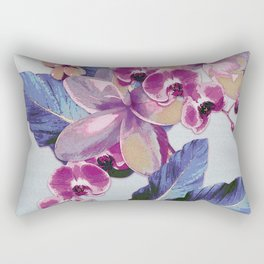 Tropical Vintage Plumerias Rectangular Pillow