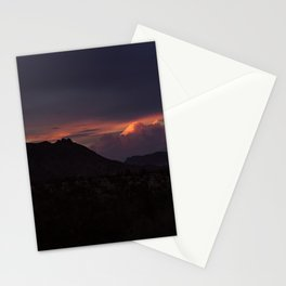Vibrant Sunset over the Mountains in Terlingua, Big Bend - Landscape Photography Stationery Cards