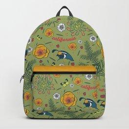 California Native, Green Backpack