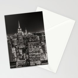 New York Skyline Night Sky Stationery Cards