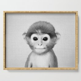 Baby Monkey - Black & White Serving Tray