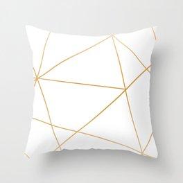 geometric gold and white Deko-Kissen
