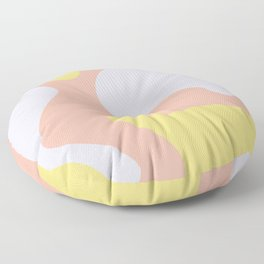 Soft Blobs Abstract in Lavender, Yellow, and Blush Pink Floor Pillow