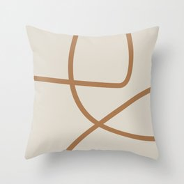 Beige Abstract Lines No. 1 Throw Pillow