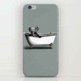Elephant in Bath iPhone Skin