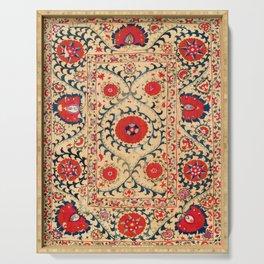 Samarkand Suzani Bokhara Uzbekistan Floral Embroidery Print Serving Tray