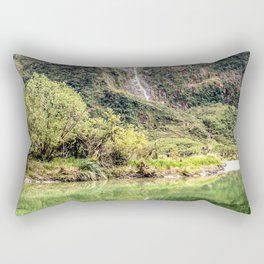 Earthy Mountain Stream // Hiking Bliss Incredible Views of the Beautiful Mountainscape Rectangular Pillow