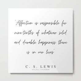 3   | 200320 |  C.S Lewis Quotes Metal Print