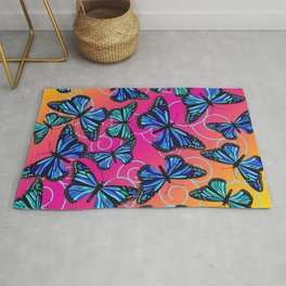 Cool Monarchs at Sunset Rug