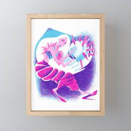 The Space Diva  Framed Mini Art Print