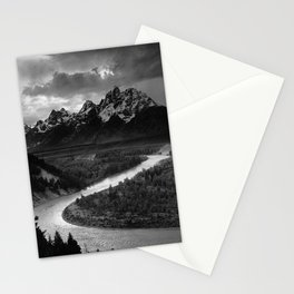 Ansel Adams - The Tetons and Snake River Stationery Cards