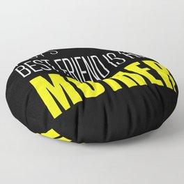 A Boy's Best Friend Floor Pillow