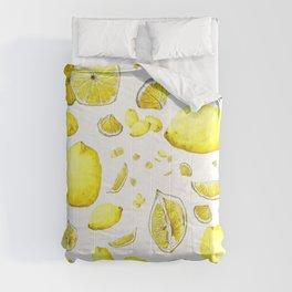 Lemon Lust on White Comforters
