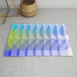 Geometric blue & turquoise flow Rug