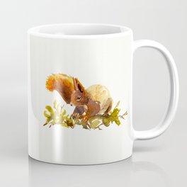 Squirrel painting Watercolour - Cute fluffy critter - woodland artwork - Animal lovers interior Coffee Mug