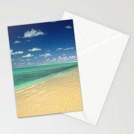 South Pacific Palau Islands' Massive Sand Bar Beach Stationery Cards