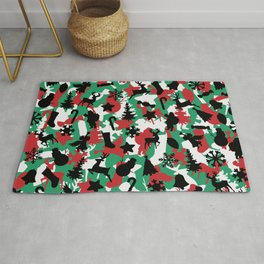 Christmas Camo WINTER WOODLAND Rug