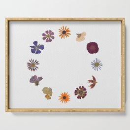 Flowers for Hours Pressed Flower Collage Serving Tray