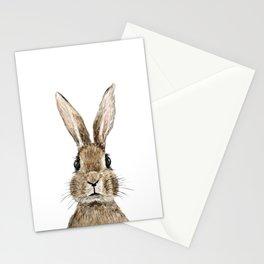 cute innocent rabbit Stationery Cards
