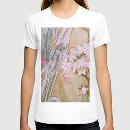 Pattern from Maud Adams Jeanne d'Arc 1909 by Alphonse Mucha T-shirt