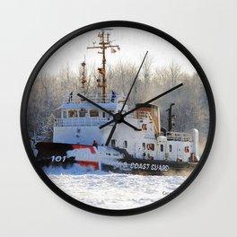 Katmai Bay Ice Breaker USCG Wall Clock