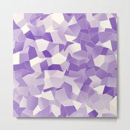 Geometric Shapes Fragments Pattern wp Metal Print