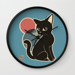 Kitty Whim Wall Clock