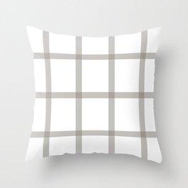 Brown checkered art Throw Pillow