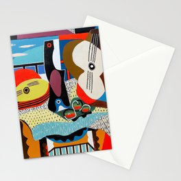 Pablo Picasso, Mandolin and Guitar (Mandoline et guitare) 1924 Artwork Stationery Cards