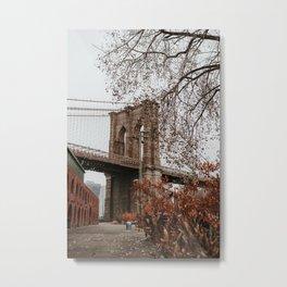 Brooklyn Bridge in the Fall | Colourful Travel Photography | New York City, America (USA) Metal Print