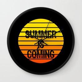 Summer Is Coming Retro Wall Clock