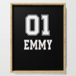 name t-shirt emmy sport t-shirt old school  Serving Tray