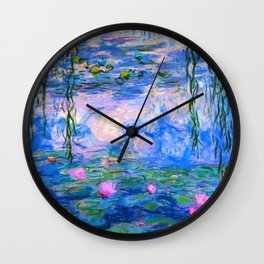 Water Lilies Claude Monet Restored Wall Clock